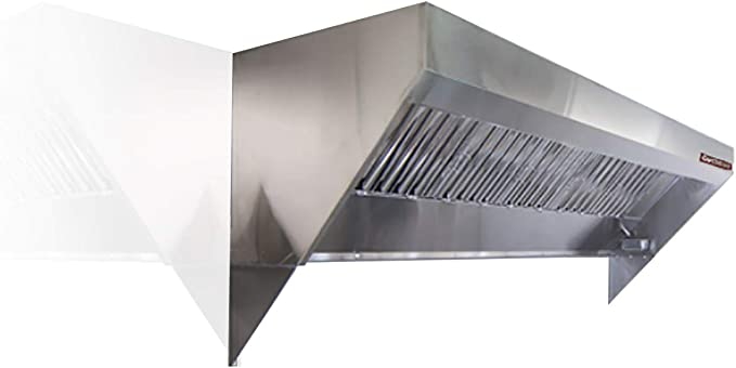 Amazon Com Food Truck Concession Trailer Mobile Kitchen Low Profile Exhaust Hood Includes Stainless Steel Hood Filters Grease Cup Installation Hardware And A Factory Installed Exhaust Riser 6 Long Hood Appliances