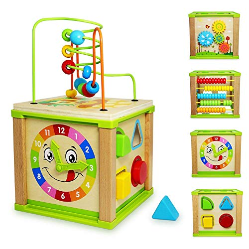 Titiyogo Activity Cube Toys Baby Educational Wooden Bead Maze Only $18.99 (Was $50)