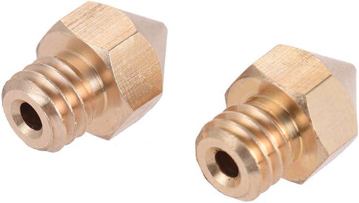 KKmoon 2pcs Brass Nozzle Extruder 3D Printer Head 0.4mm Output for 1.75mm /& 3mm Filament for Makerbot Anet RepRap i3