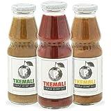 PMONA Tkemali Georgian European Gourmet Sauces, 13 oz Bottle, 3Count Variety Pack Red, Green,Yellow Sour Plum Sauces, Gluten-