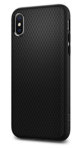 Spigen Liquid Air Armor iPhone X Case with Durable Flex and Easy Grip Design for Apple iPhone X (2017) - Matte Black