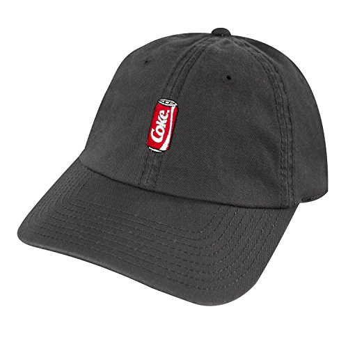 (American Needle Coca-Cola Can Micro Logo Adjustable Backstrap Slouch Dad Hat Gray)