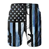 LXP FZD Vintage American Flag Men Swim T