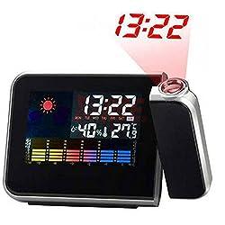 Projection LCD Digital Alarm Clock Projector Color Display LED Backlight Table Desktop Clocks Reloj Despertador