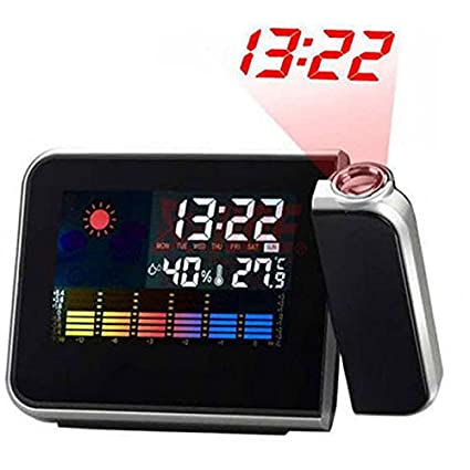 Amazon.com : Projection LCD Digital Alarm Clock Projector Color Display LED Backlight Table Desktop Clocks Reloj Despertador : Everything Else