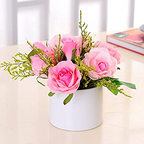 Amazon.com: XHOPOS HOME Artificial Flowers Living Room Bedroom Rose ...