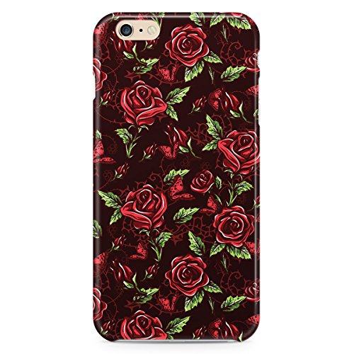 Phone Case For Apple iPhone 6 Plus - Red Rose With Thorns Protective Cover