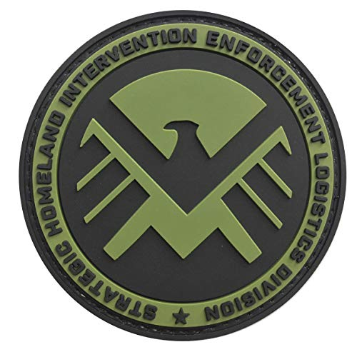 Marvel Strategic Homeland Intervention Enforcement Division 3.15 PVC Tactical Morale Patch Hook Backing (Green)