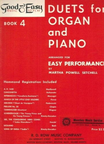Duets for Organ and Piano (Arranged for Easy Performance) (Duets Piano Organ)