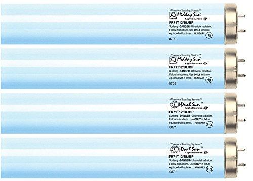 Midday Sun & Dual Sun Face & Body Reflector Tanning Lamp Kit FR71T12 Bipin (RFL) - Bed 12 Tanning Minute