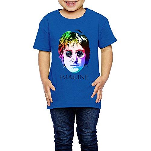 AK79 Children 2-6 Years Old Boys And Girls John Imagine Lennon T-shirt RoyalBlue Size 5-6 Toddler