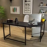 TOUCHXEL L-Shaped Computer Desk PC Latop Study Table Workstation Home Office, Black
