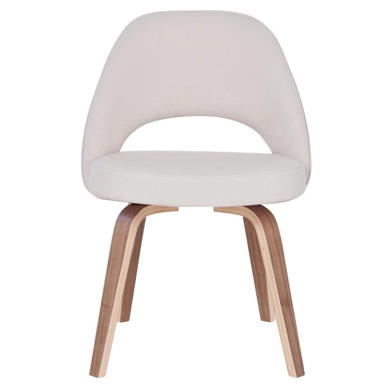 Amazon com joseph allen saarinen style grey linen blend dining chair chairs