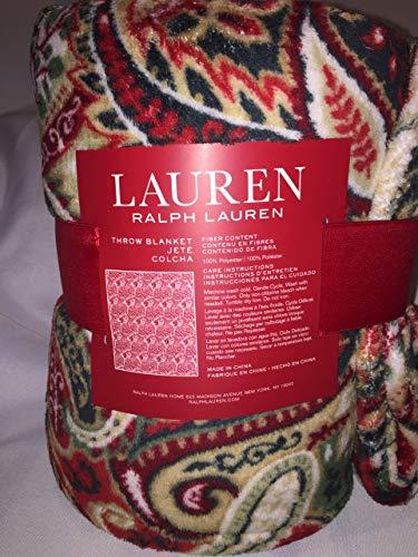 Ralph Lauren Throw Blanket Jasper Paisley