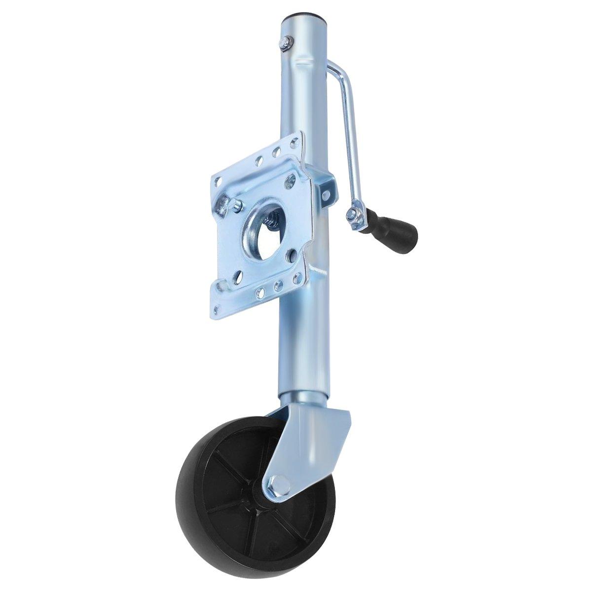 Goplus Trailer Side Swivel Jack Boat RV Swing Away Camper Wheel Bolt On 1000 lbs