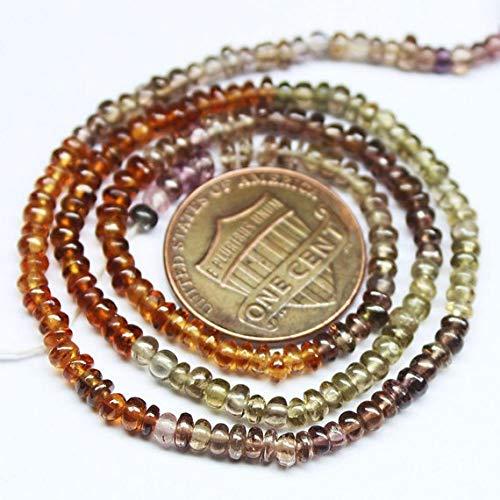 Beads Bazar Natural Beautiful jewellery Multi Tundra Sapphire Smooth Rondelle Gemstone Loose Craft Beads Strand 13
