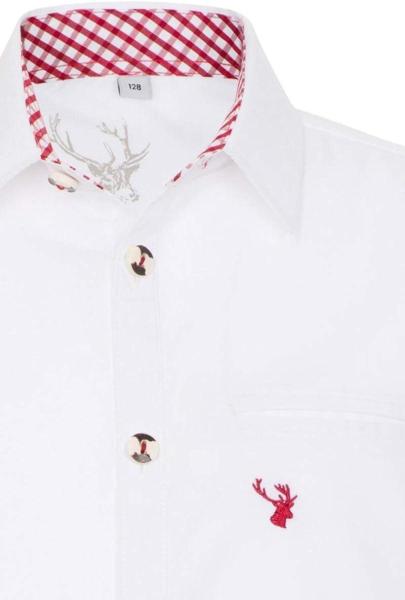 rot blau Spieth /& Wensky Trachtenhemd Kind KEKS