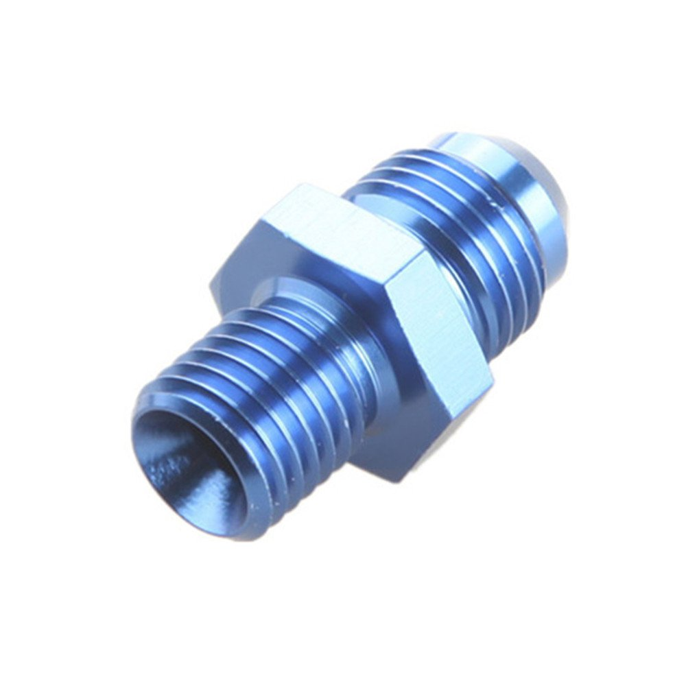 Metric Straight Flare Male Fitting Adapter Blue mm 8AN AN-8 To M18x1.5