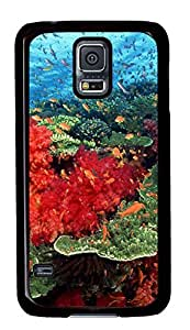 galaxy s5 case,custom samsung galaxy s5 case,TPU Material,Shock Absorbent,Drop Protection,black case,The coral on the ocean floor