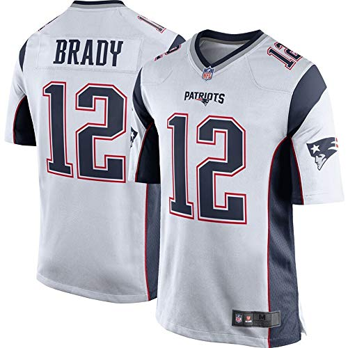 Youth #12 Tom Brady New England Patriots Team Color Game Jersey - White S