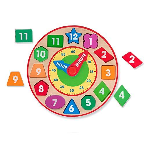 Melissa & Doug Shape Sorting Clock - The Original (Developmental Kids Toy, - For Kids Older Toys Wooden