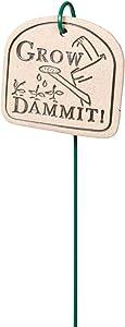 Amaranth Humorous Garden Marker - Grow Dammit!