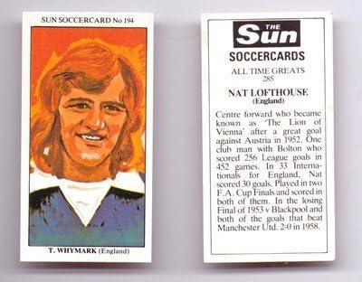 Ipswich Town TREVOR WHYMARK football trade card Sun Soccercards No 194