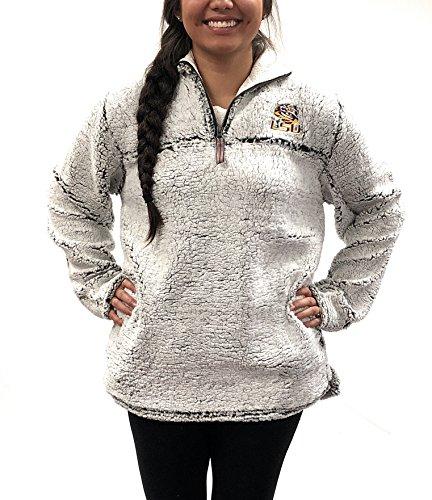 (Lousiana State Tigers Poodle Jacket; 1/4 Zipper LSU University Apparel Clothing)