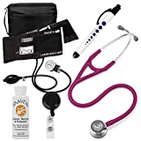 3M Littmann Cardiology Iv™ Stethoscope With Prestige Medical Aneroid Sphygmomanometer Carrying Case Pupil Gauge Quick