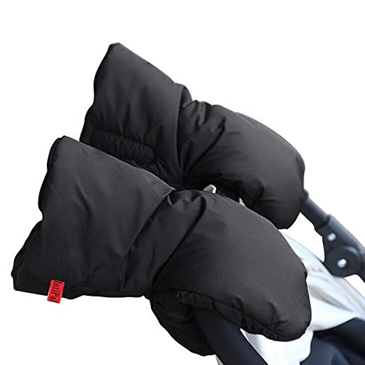 IntiPal Extra Thick Stroller Hand Muff Winter Waterproof Anti-freeze Gloves for Parents and Caregivers (Coffee)