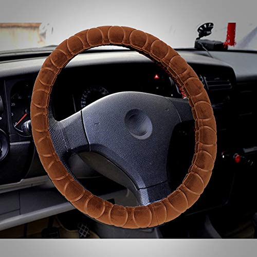SalaBox-Accessories - Universal 38cm Steering-Wheel Cover Car Steering Wheel Cover Warm Plush Interior Accessories Braid Texture Car-styling from SalaBox-Accessories