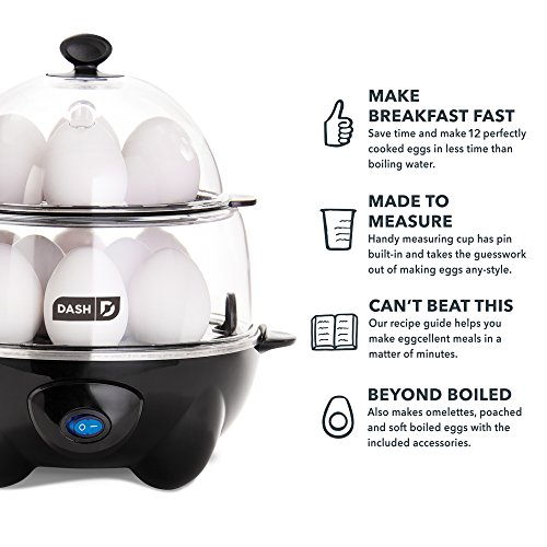 Dash DEC012BK Deluxe Egg Cooker by Dash (Image #3)