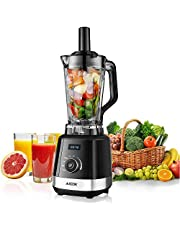 Smoothie Blender, Aicok 1500W Commercial Blender with 32,000 RPM High Speed, 5 in 1 Multi-Function Profession Blender with Tritan Pitcher & Tamper, 6 Sharp Blade and LED Indicator, BPA Free