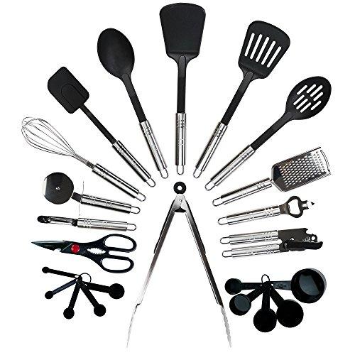 Qualikitchen Premium Cooking kitchen Utensil Set: 23 Pieces
