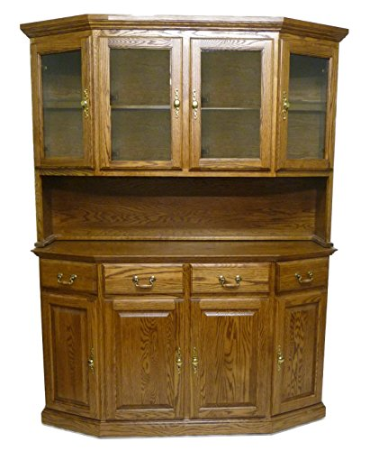 Forest Designs 60w Traditional Buffet & Hutch 61w x 78h x 18d Honey (Honey Oak Buffet)