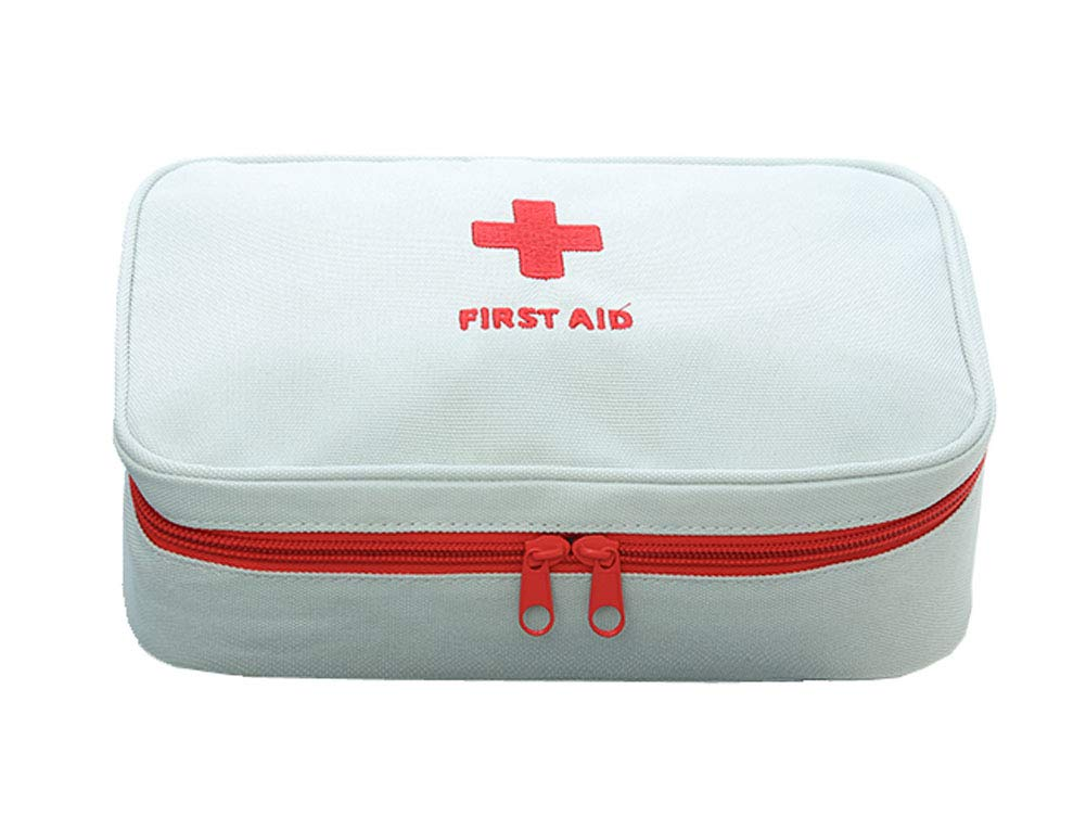 Travel Portable Medicine Storage Bag, Foldable First Aid Kit,Light Grey