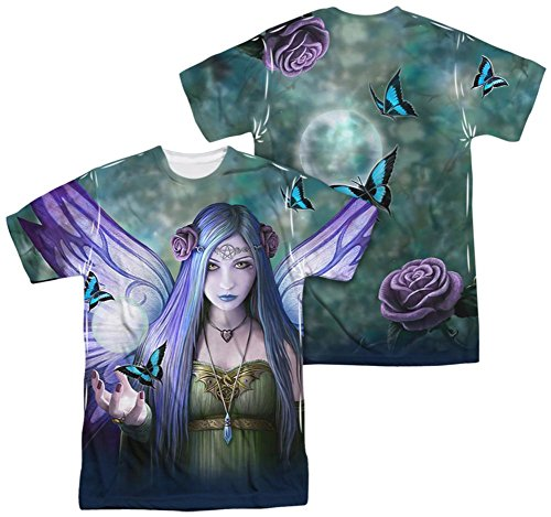 Anne Stokes Gothic Fantasy Artist Butterfly Pentacle Fairy Adult 2Side Print Tee - T-shirt Fairy Butterfly