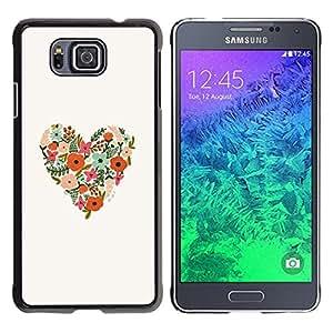 iKiki Tech / Estuche rígido - Spring Love Valentines White - Samsung GALAXY ALPHA G850