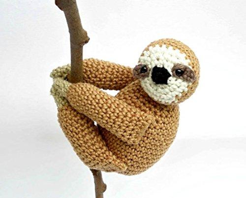 Perezoso de peluche, peluche oso perezoso, Crochet pereza, pereza juguetes, Amigurumi perezoso