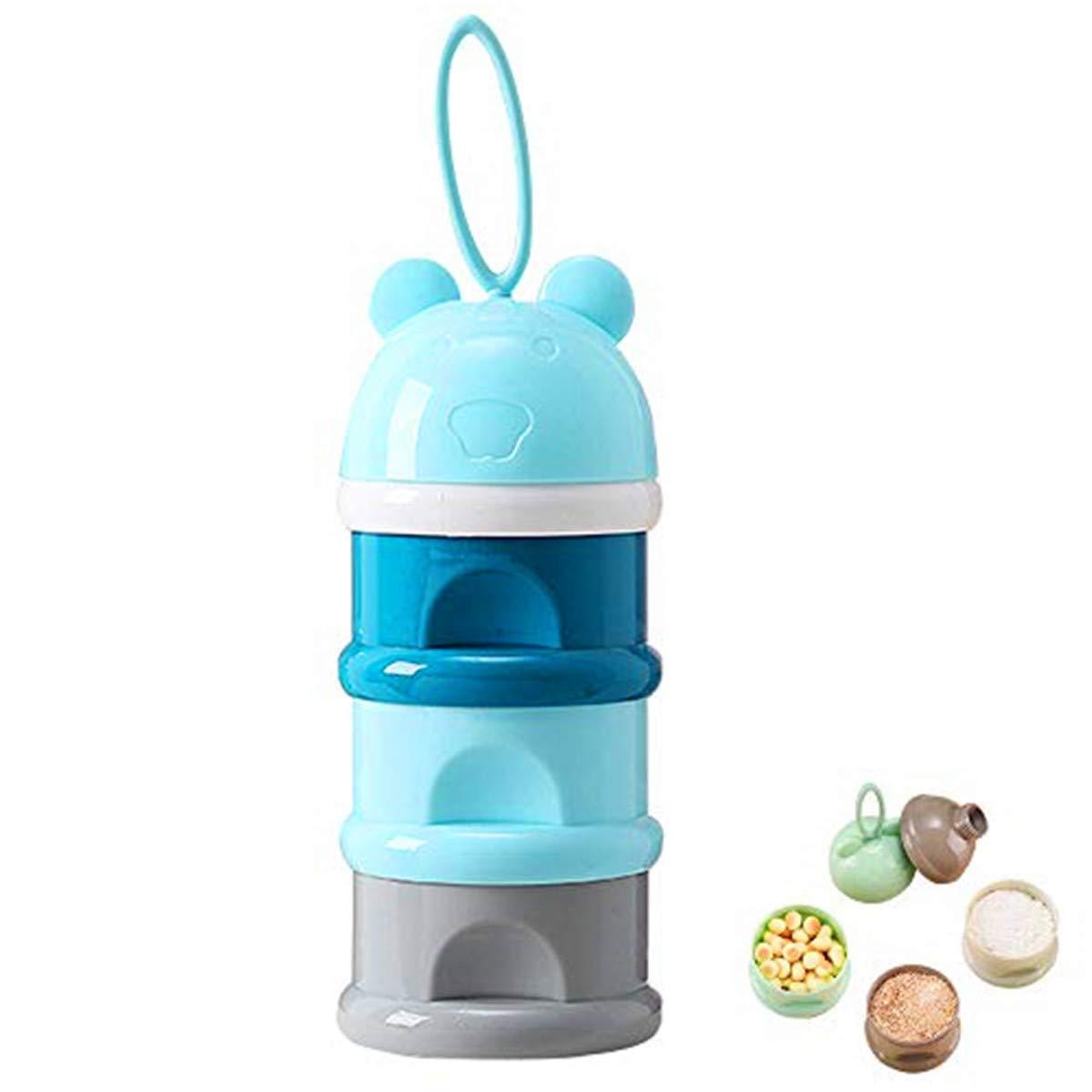 Baby Milk Powder Dispenser Stackable Baby Feeding Travel Container Storage 3Pack