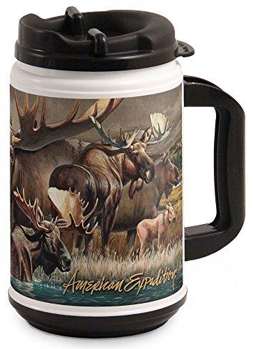 (American Expedition TM24-305 Thermal Mug, Moose Collage, 24 oz,)