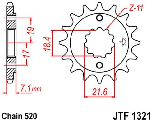 JT Sprockets JTF1591.15 15-Tooth Steel Front Countershaft Sprocket