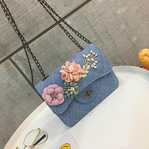 Fashion Purse Bags Grid Light Women Ladies Casual Messenger Crossbody Ling Blue Girls Shoulder Cute Vintage Coin Purse Bags LILICAT Applique Bags Floral Ladies Shoulder Elegant wZqPRPx4T