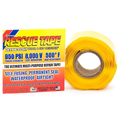 (Rescue Tape | Self-Fusing Silicone Tape | Emergency Pipe & Plumbing Repair | DIY Repairs | Seal Radiator Hose Leaks | Wrap Electrical Wires | Used by US Military | 1