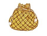 Indian sequence Potli Bag/ wedding purse/jewelery purse for girls & women (Base Color- Yellow)