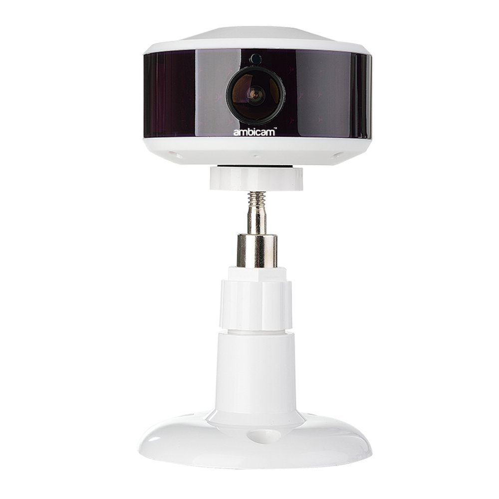 Ambicam PRO - Smart Cloud Camera With Cloud Storage, 130 Degree Wide Angle,  720P, HD, 2 Way Talk, Night Vision, Motion Detection