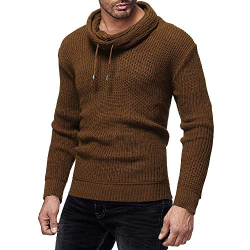 - ◕‿◕ Toponly Long Sleeve Tops for Men Knitwear Solid Pullover Trutleneck Sweater