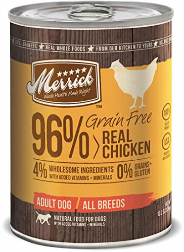 Merrick Grain Free Real Chicken Dog Food, 13.2 Ounce Can, (Case of 12)
