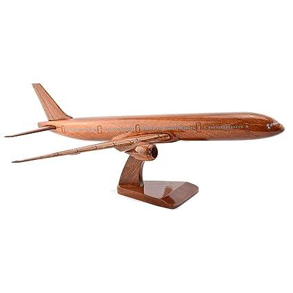 Amazon com: Shopping Zone Plus Boeing 777 Wooden Airplane