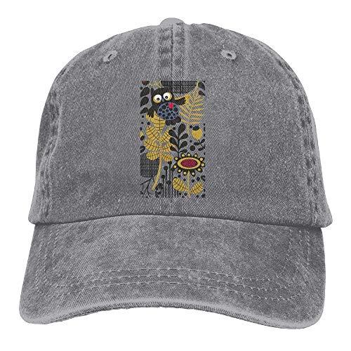 Denim Hats Men Leaf Owl Flowers Cowboy Cowgirl Cap Sport Women Skull for Hat PwztF